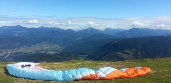 Paragliding Tandem Start vom Berg